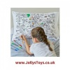 Colour in World Map Pillowcase