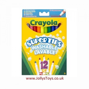 Crayola Supertips Washable Markers, 12s