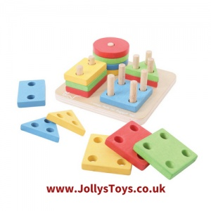 Four Shape Sorter Stacking Puzzle