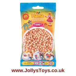 Pack of 1000 Hama Beads, Pale Pink