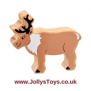 Chunky Wooden Reindeer