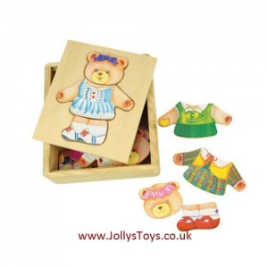 Mrs Bear Wooden Dress Up Set