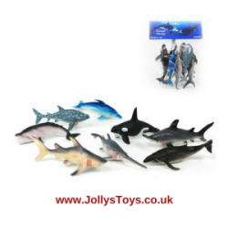 Pack of 8 Sea Creature Figures