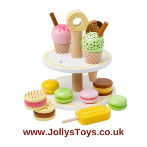 Wooden Stand with Sweet Treats