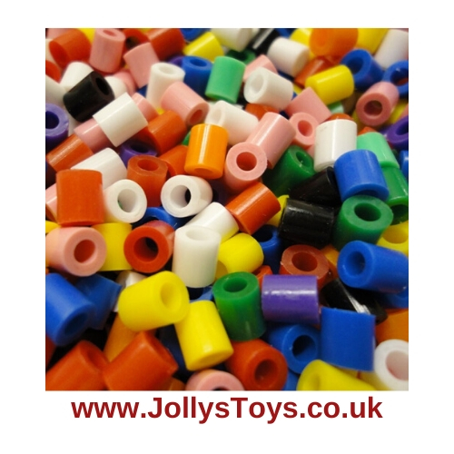 Pack of 1000 Hama Beads, Solid Colour Mix