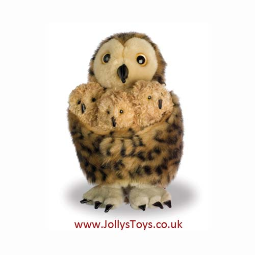 Tawny Owl Family Hideaway Puppet Set