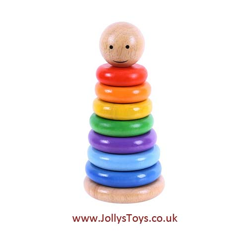 Wooden Rainbow Stacker