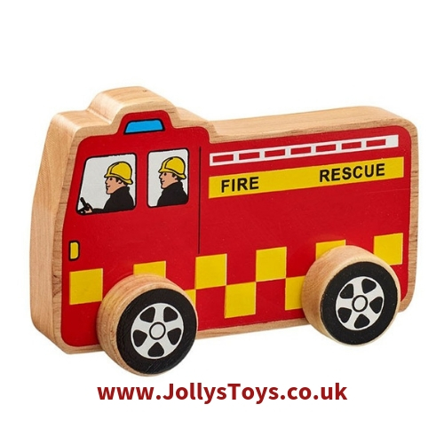 Chunky Wooden Fire Engine