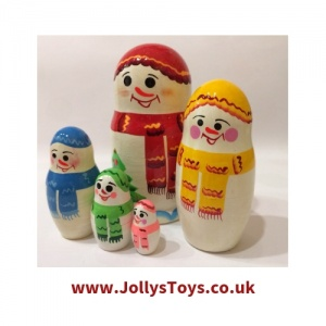 Snowman Russian Doll Set