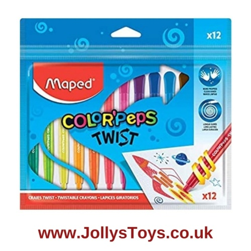 Color'Peps Twistable Crayons, 12s