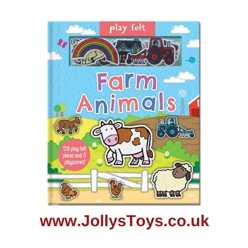 Animal Play Felt Activity Book