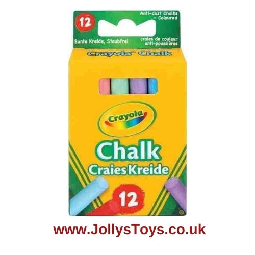 Crayola Coloured Chalk, 12s