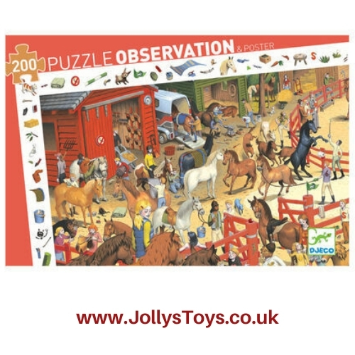 Horse Riding Stables 200-Piece Jigsaw Puzzle