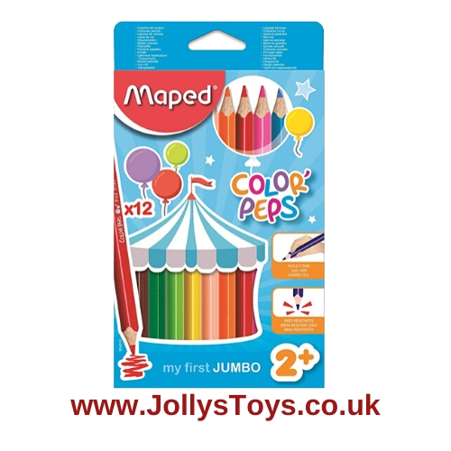 Color'Peps Jumbo Colouring Pencils, 12s