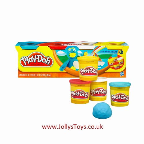 Play Doh, Pack of 4 Tubs
