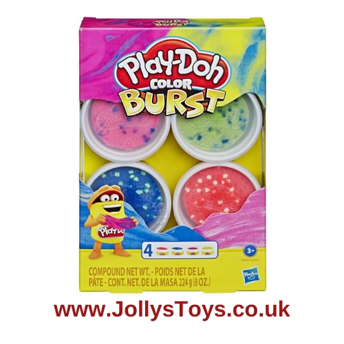 Play Doh Colour Burst, Pack of 4