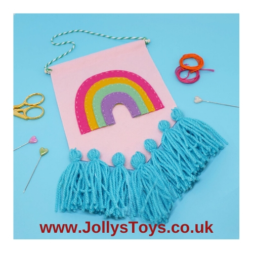 Rainbow Tassel Banner Making Kit